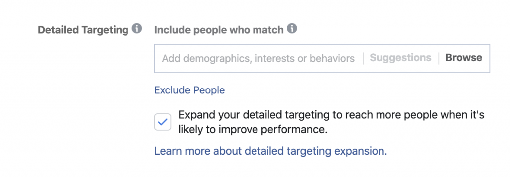Facebook Interest Targeting Expansion